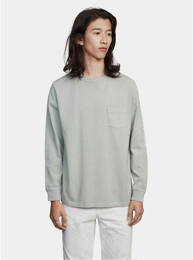 Slate Green Logo Jersey GD LS T Shirt
