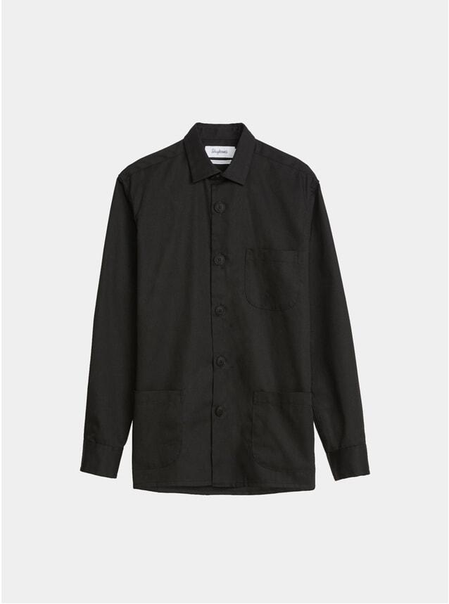Solid Black Tech Overshirt