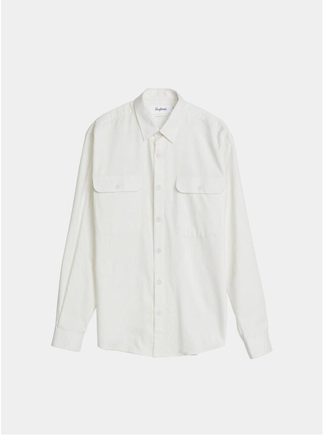 White Cashmere Boxy Shirt