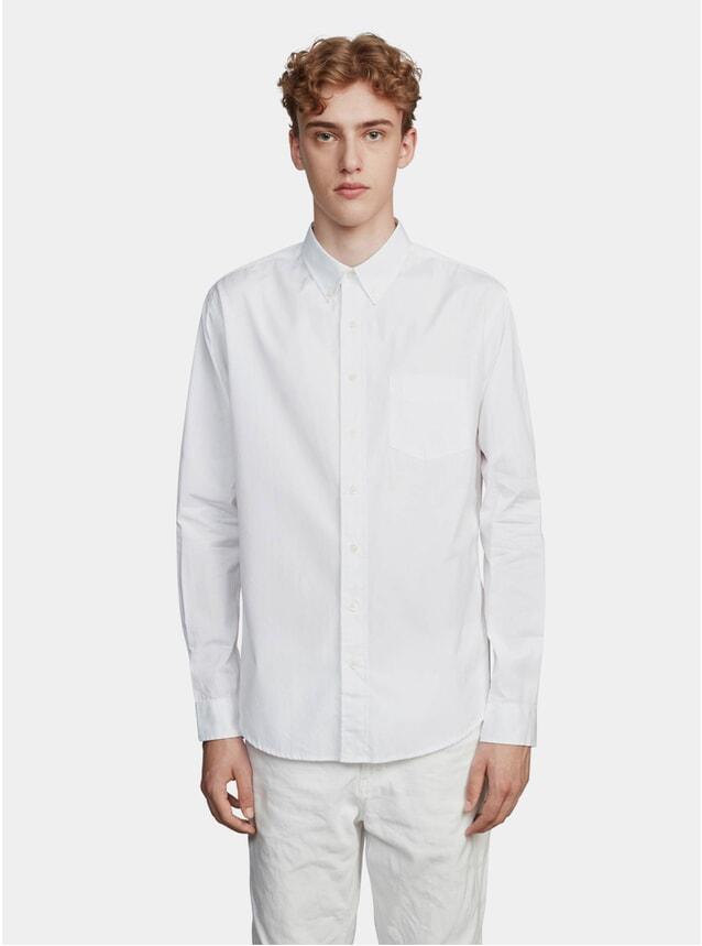 White Poplin White Shirt