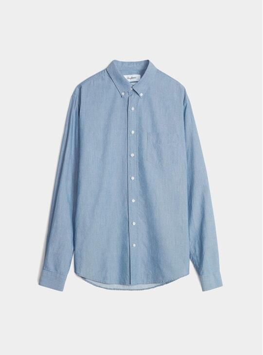 Light Blue Mussola Leisure Shirt