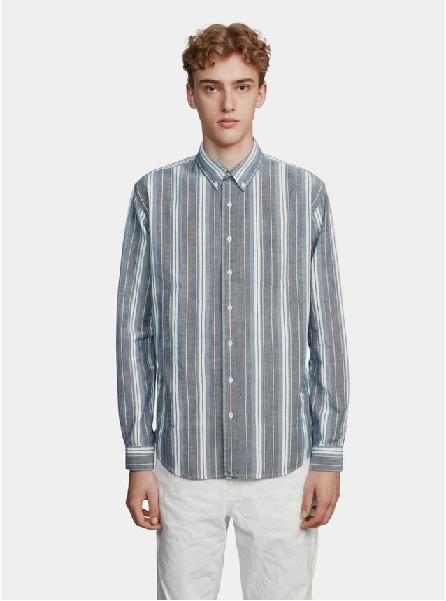 Stripe Blue / White Oxford Striped Shirt