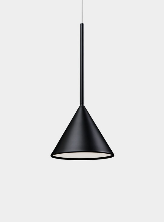 Deep Black Figura Cone Lighting