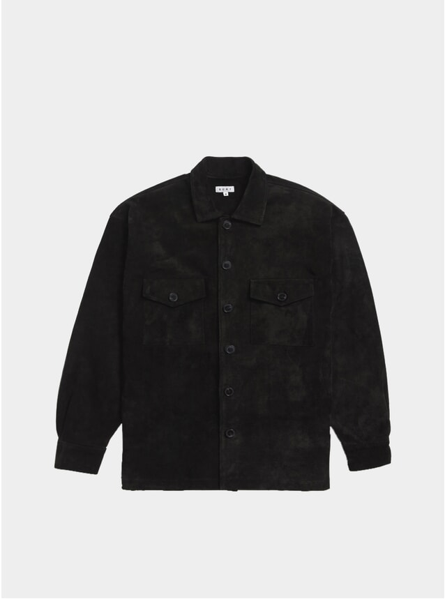 Black Suede Overshirt