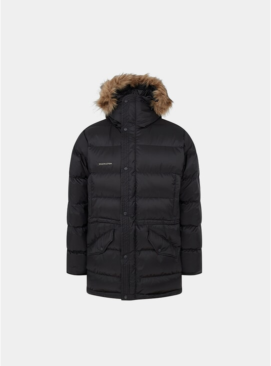 Black Endurance Lightweight Down Parka