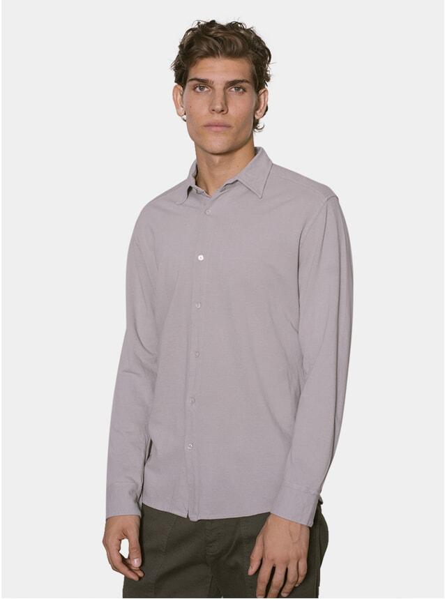 Grey P Cotton Pique Shirt