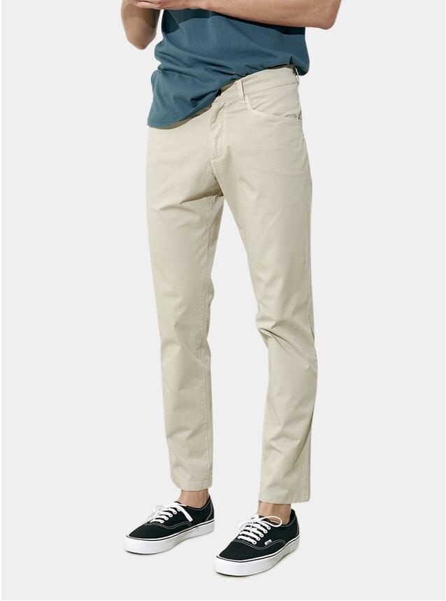 Sand Grey 5 Pocket Cotton / Stretch Pants