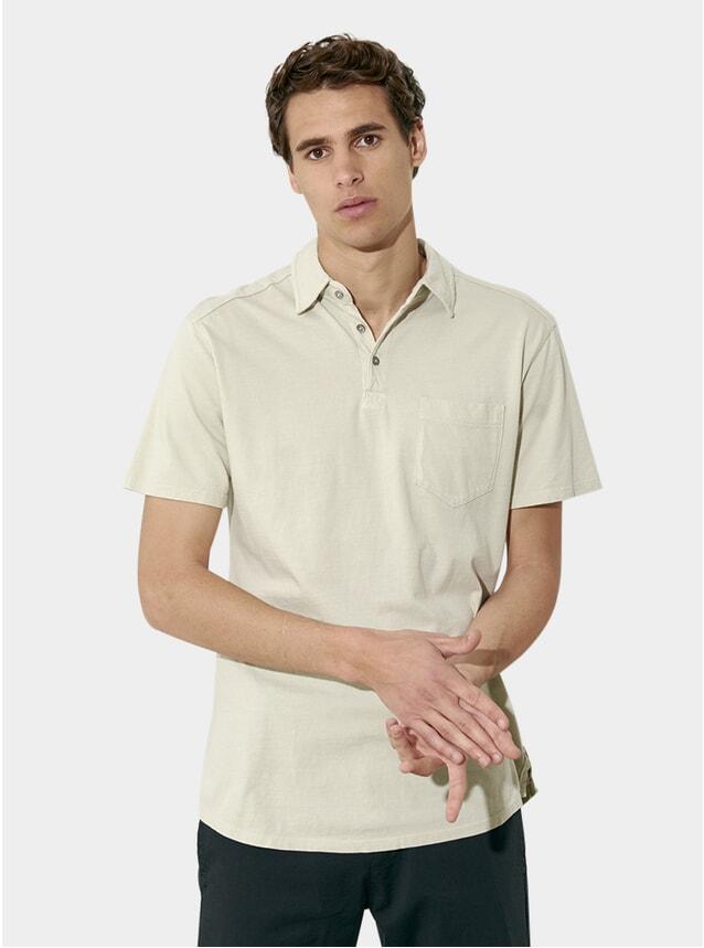 Sand Grey SS Cotton Polo Shirt