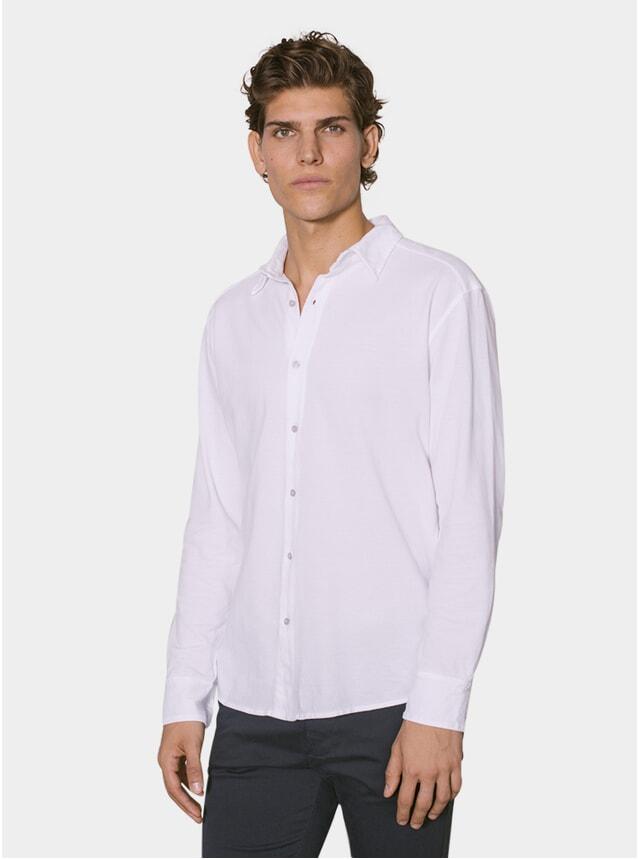 White Cotton Pique Shirt