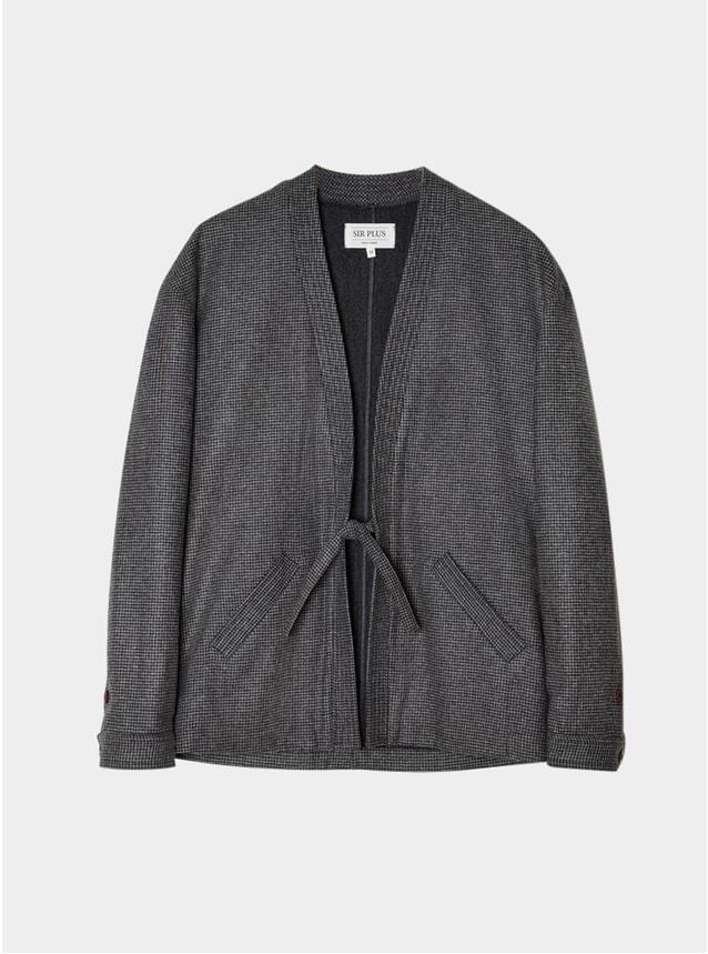 Charcoal Houndstooth Noragi Jacket