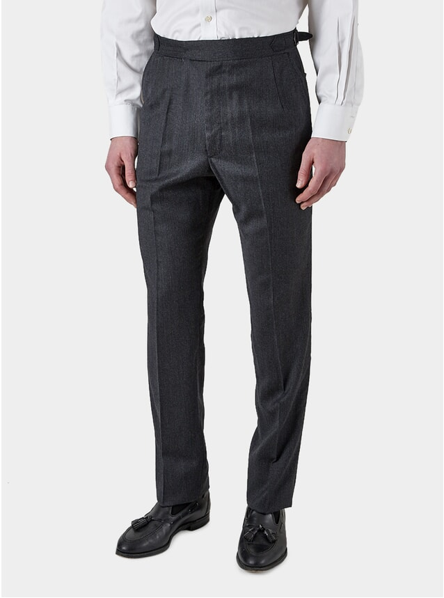 Charcoal Pinstripe Formal Trousers