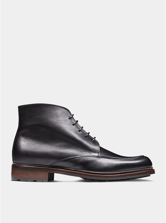 Black The Eighth Son Derby Boots