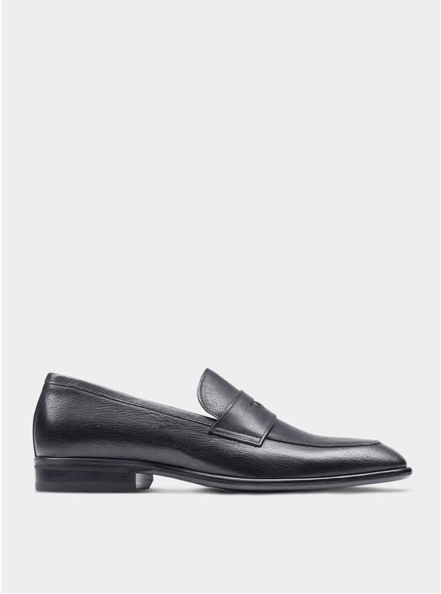 Black The Seventh Son Penny Loafers