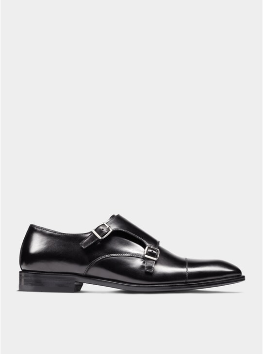 Black The Third Son Double Monkstrap Shoes