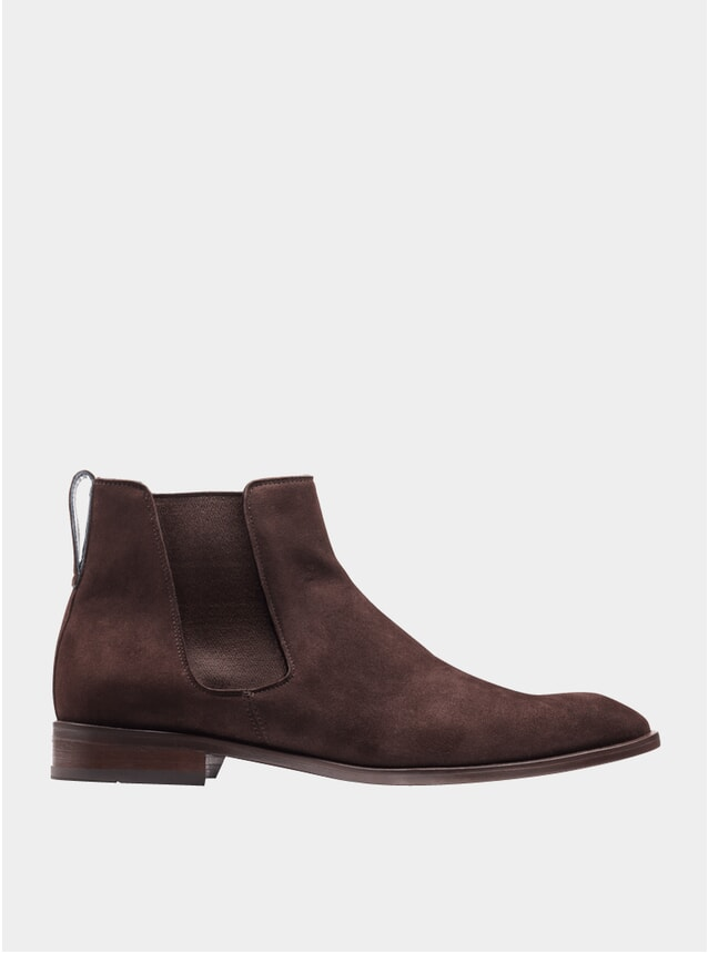Brown Suede The Fourth Son Chelsea Boots