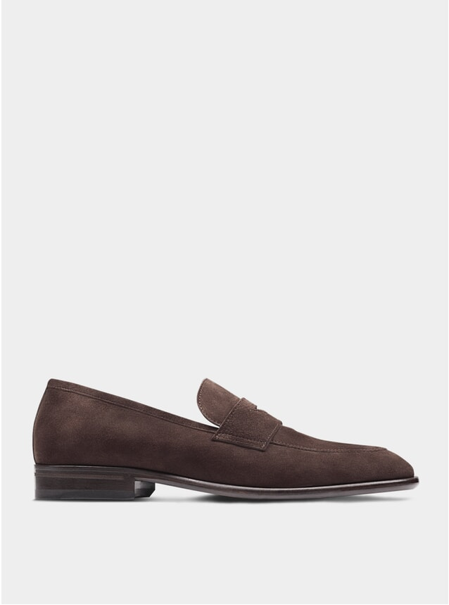 Brown Suede The Seventh Son Penny Loafers