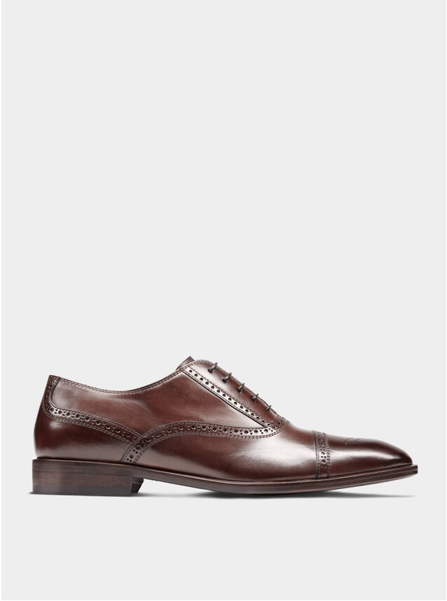 Brown The Second Son Semi Brogue Oxford Shoes