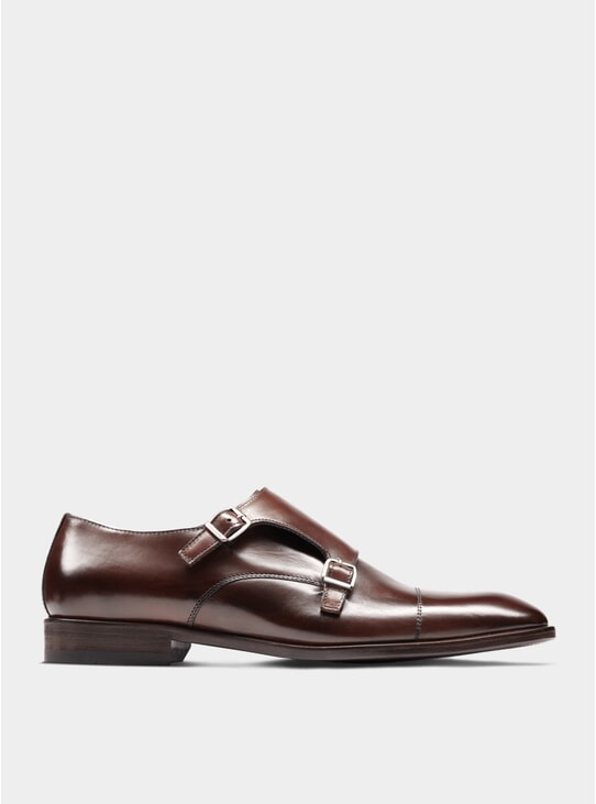 Brown The Third Son Double Monkstrap Shoes