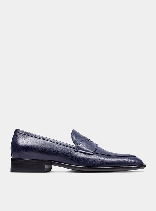Navy The Seventh Son Penny Loafers