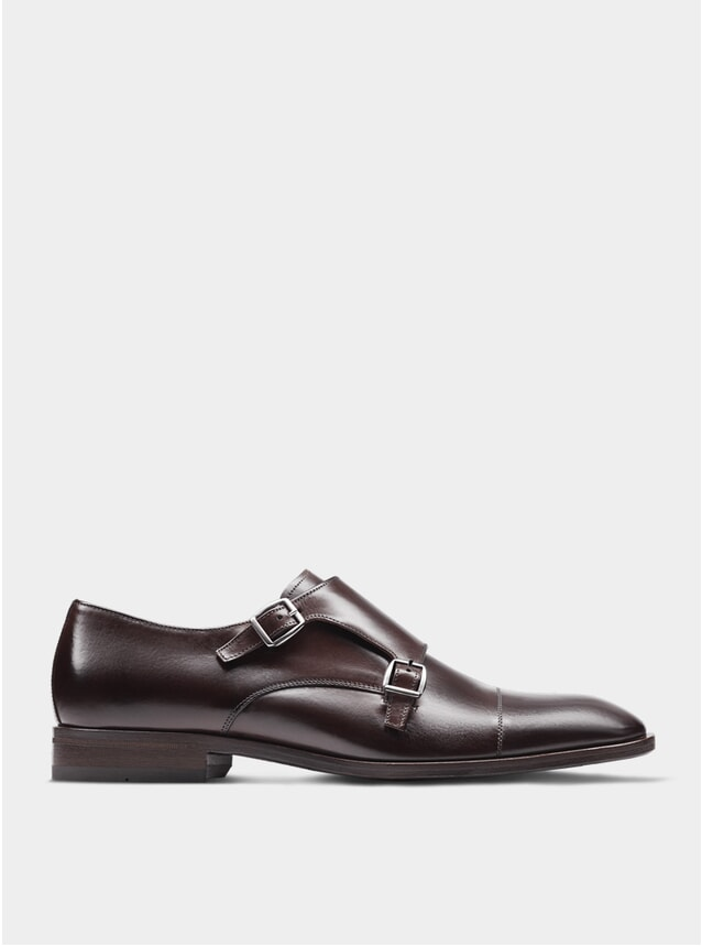 Oxblood The Third Son Double Monkstrap Shoes