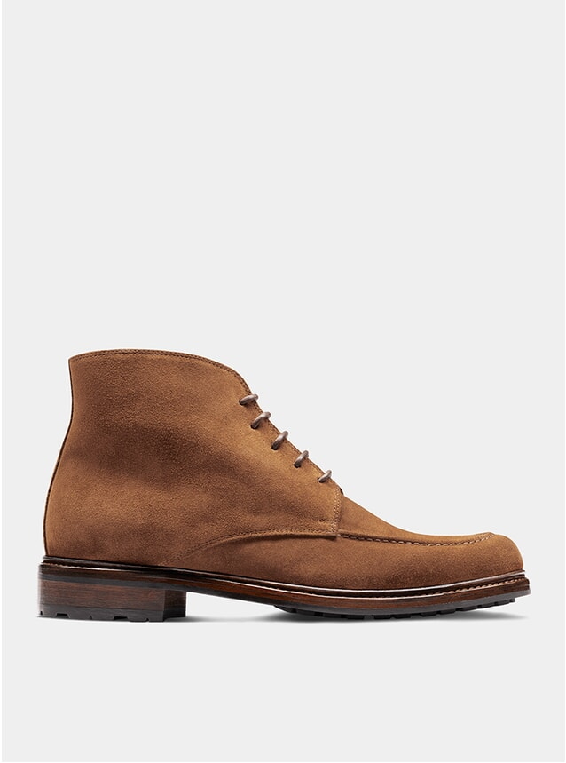 Tan Suede The Eighth Son Derby Boots