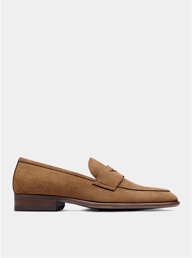 Tobacco Suede The Seventh Son Penny Loafers