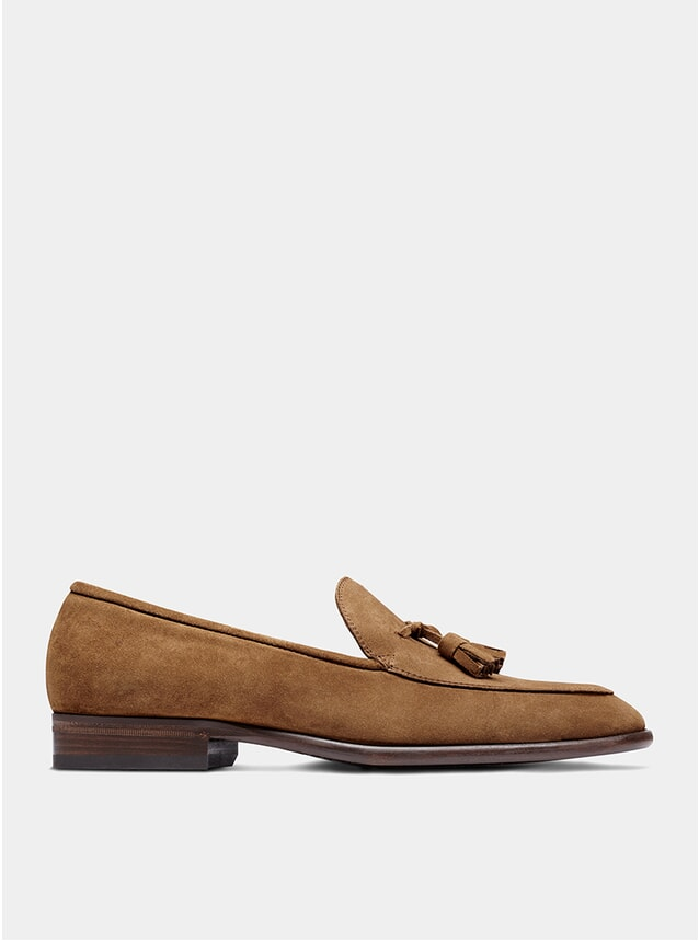 Tobacco Suede The Sixth Son Tassel Loafers