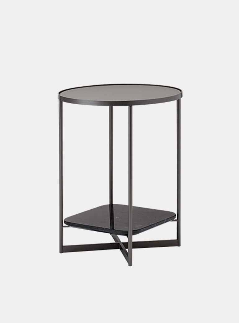 Spo1 Etched Glass Black Marble Mohana Side Table Opumo
