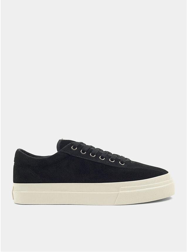 Black Suede Dellow Sneakers