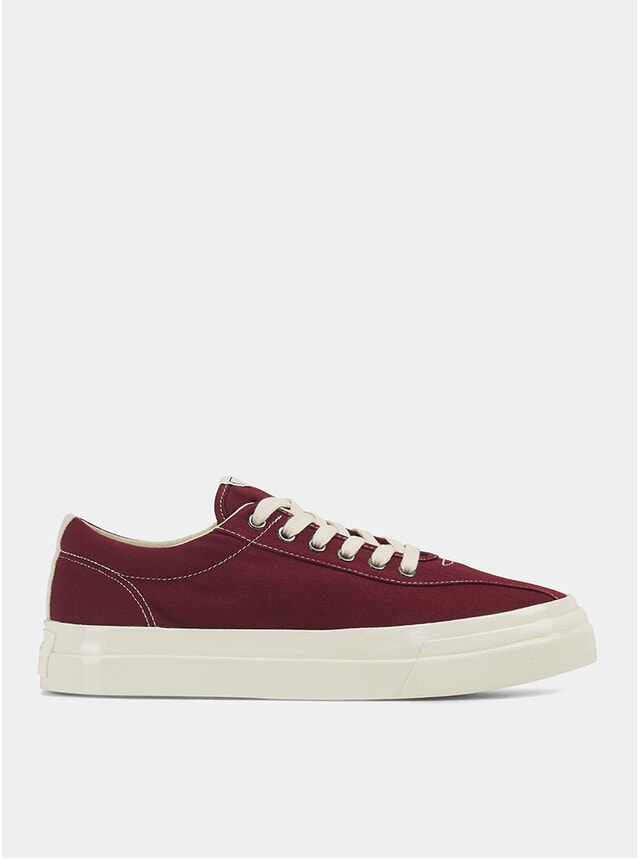 Burgundy Canvas Dellow Sneakers