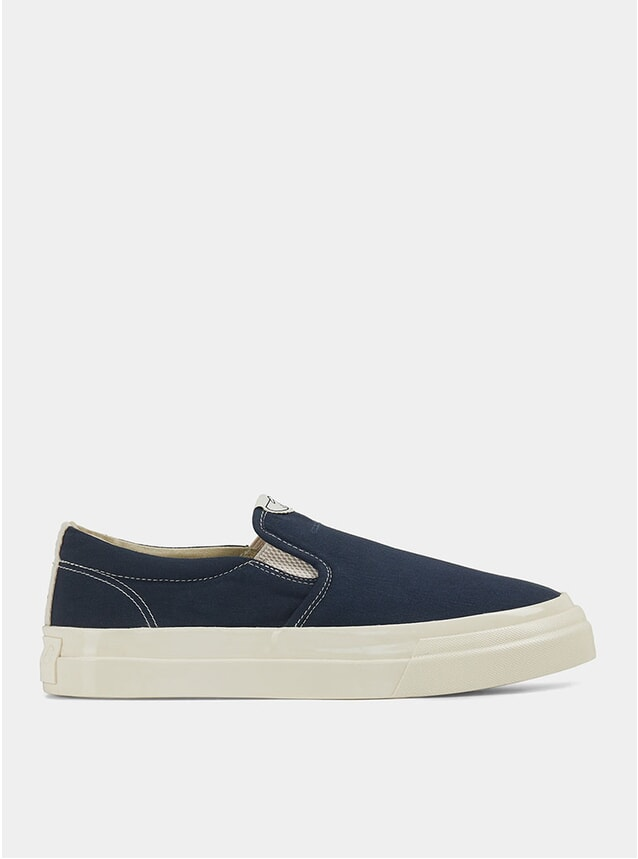 Petrol Lister Canvas Slip-On Sneakers