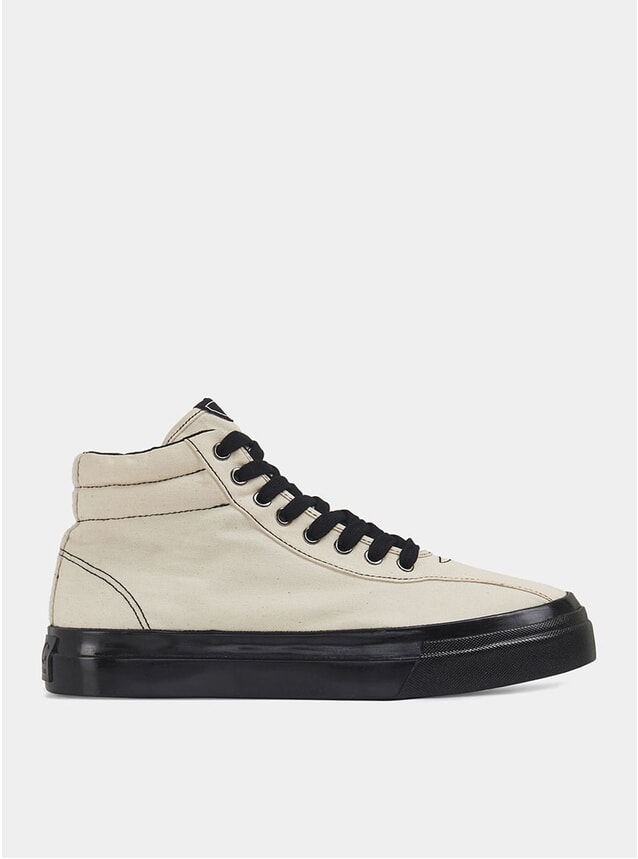 Raw Ecru / Black Canvas Varden Sneakers
