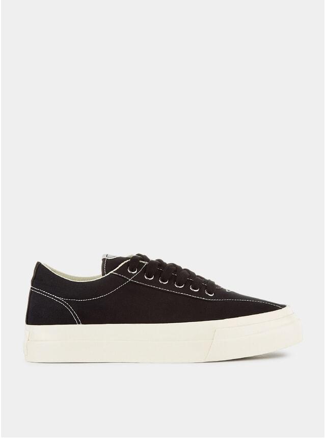 Black Canvas Dellow Sneakers