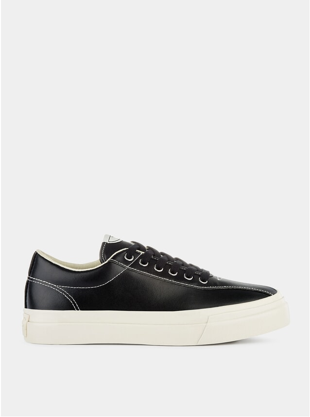 Black Leather Dellow Sneakers