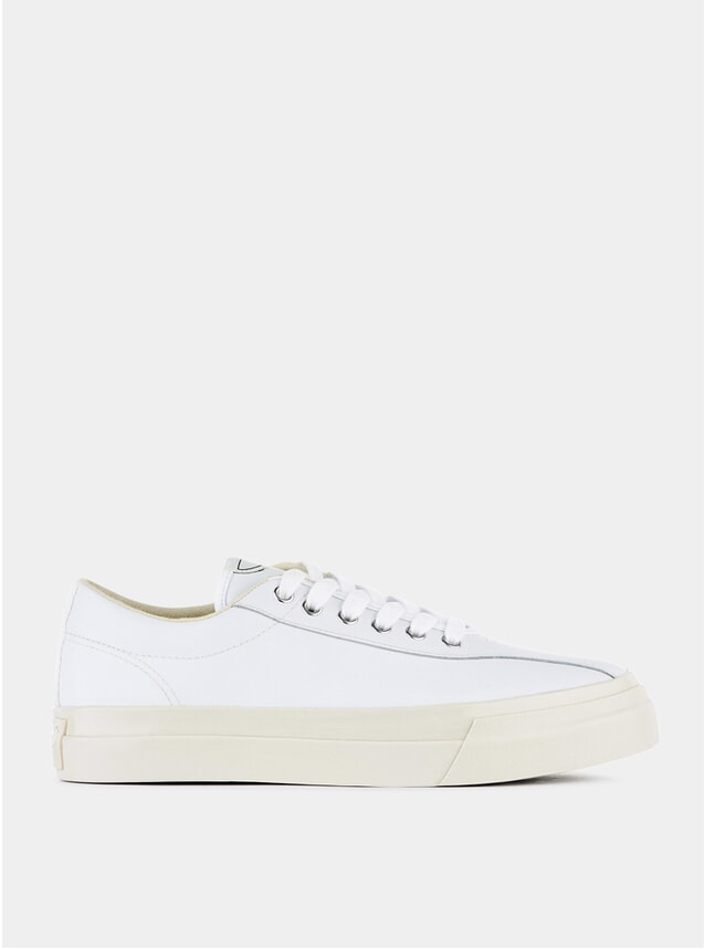 White Leather Dellow Sneakers