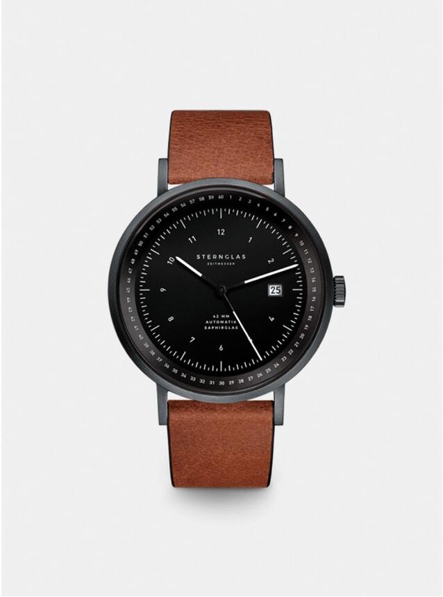 Black / Black / Vintage Mahogany Topograph Watch