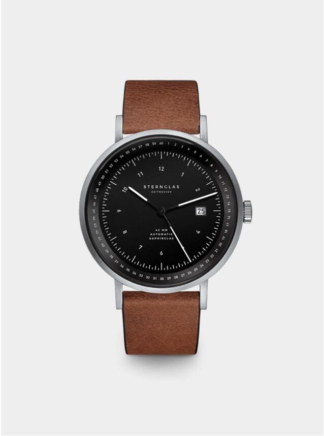 Black / Silver / Mahogany Automatic Topograph Watch