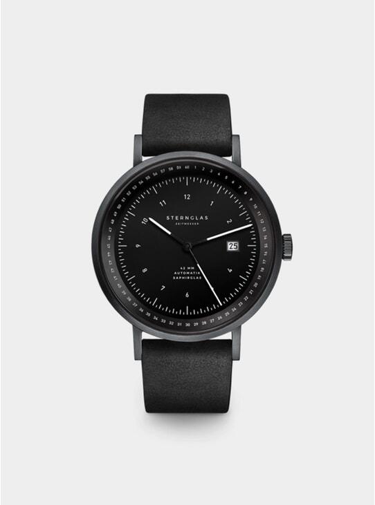 Black Vintage Nero Topograph Watch