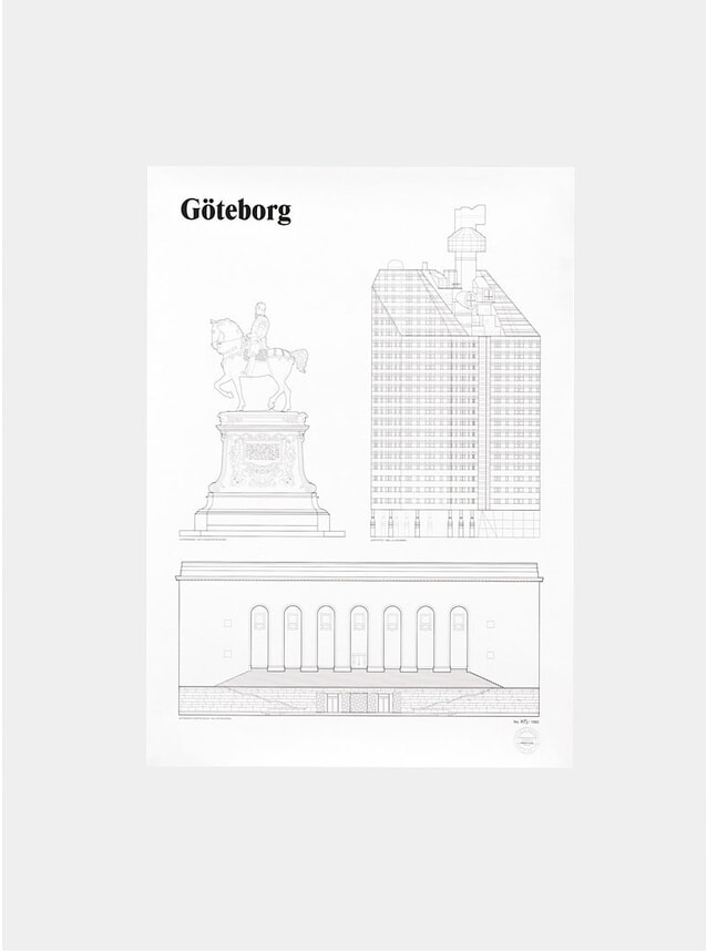 Göteborg Landmarks Print