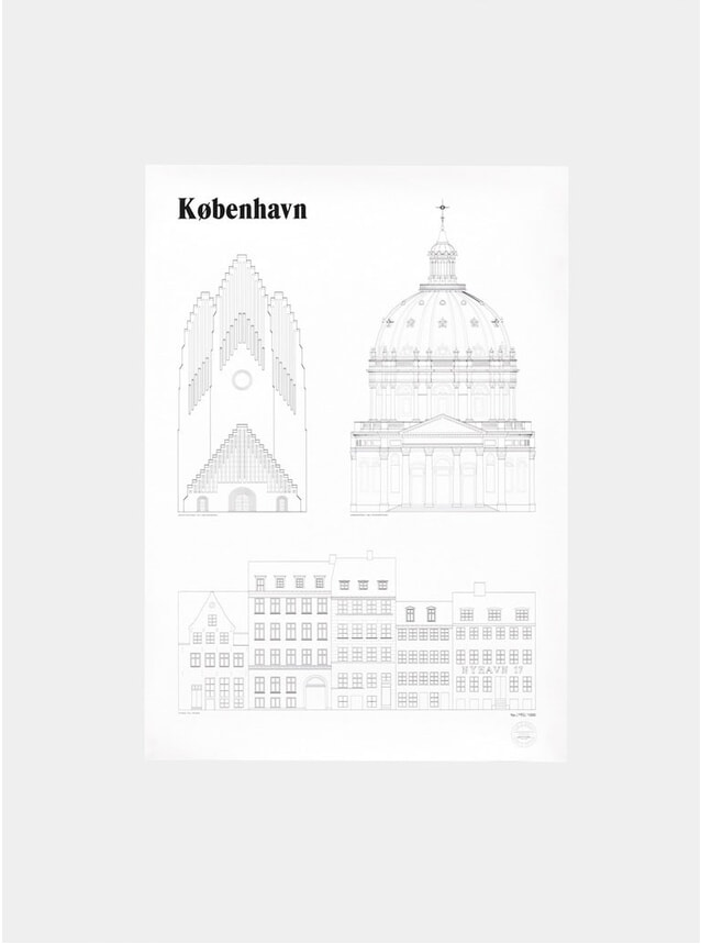 Kobenhavn Landmarks Print