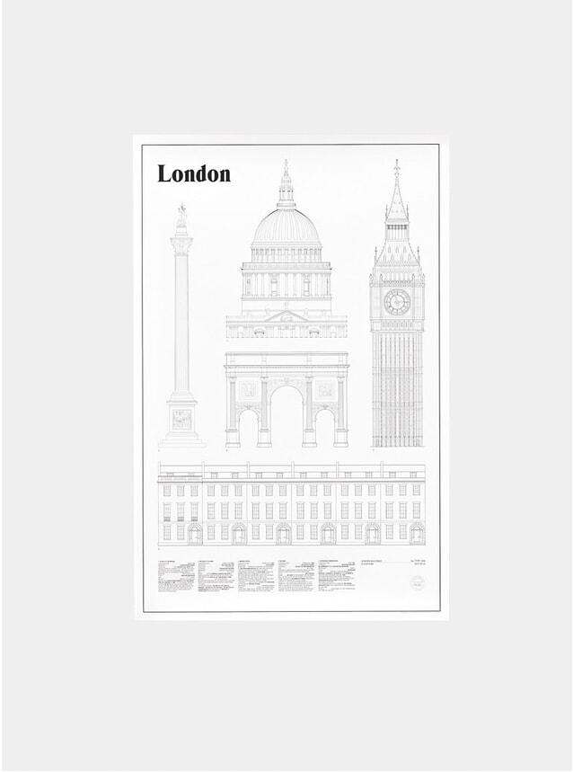 London Elevations Print