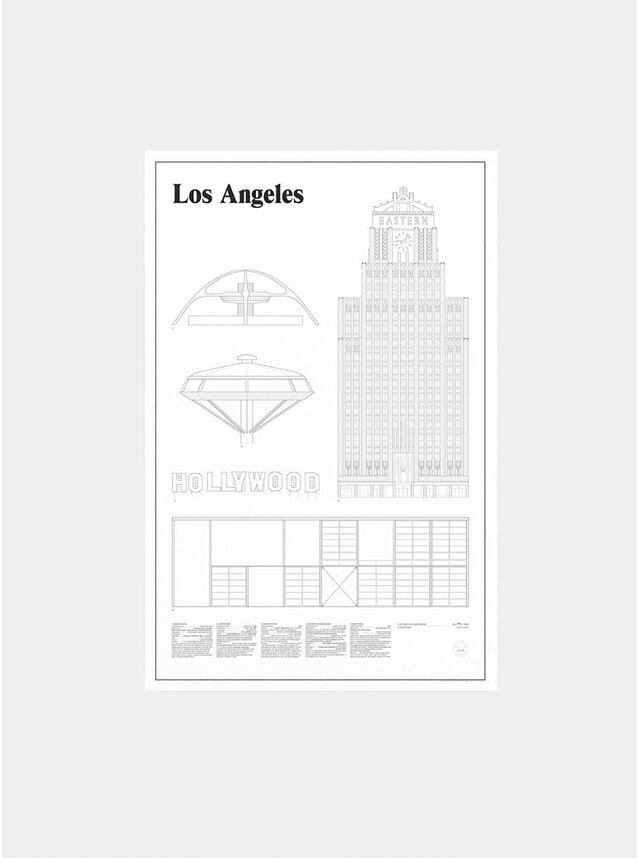 Los Angeles Elevations Print