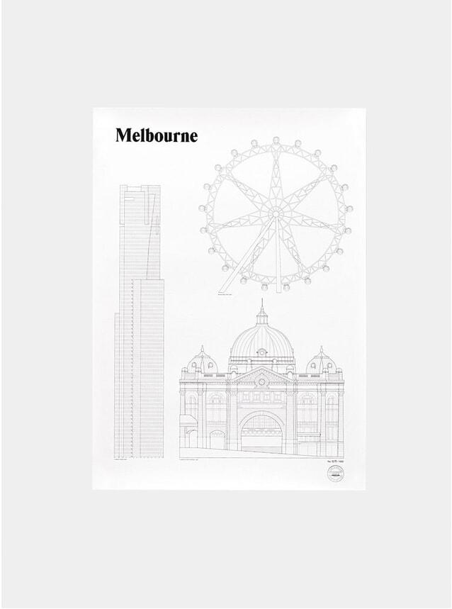 Melbourne Landmarks Print