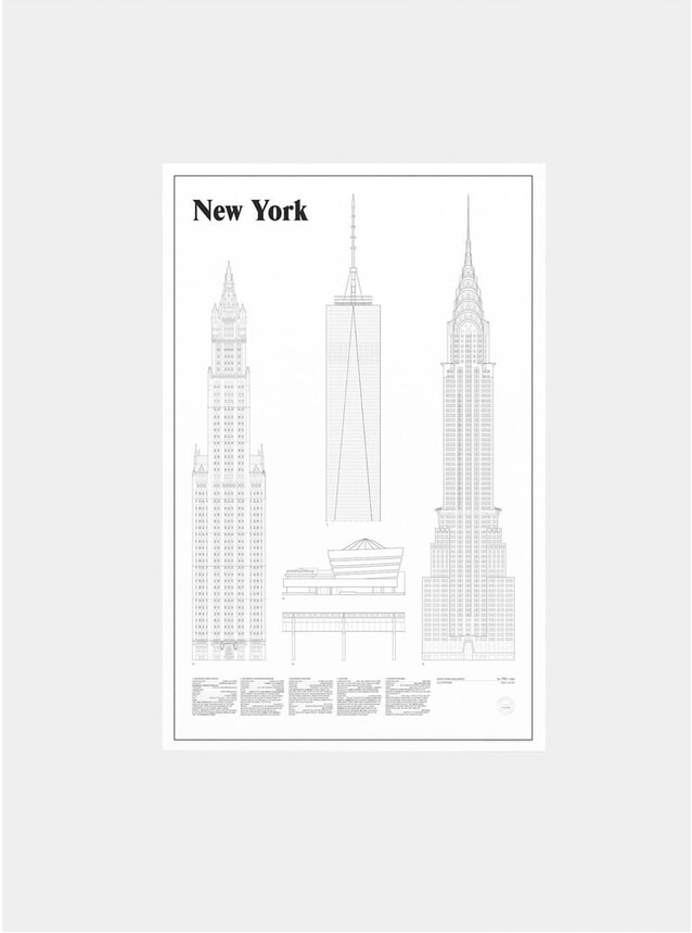New York Elevations Print