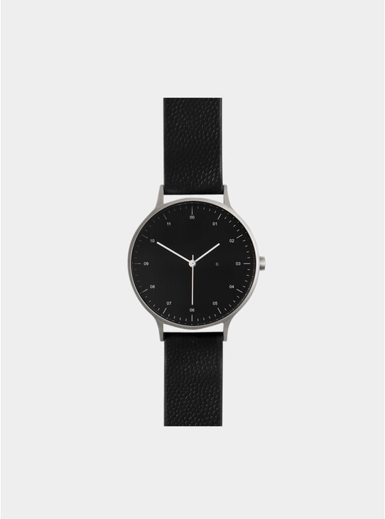Black / Silver T-27 Leather Watch