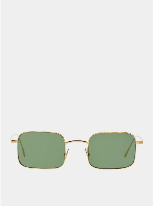 Gold / Bottle Green Flare Sunglasses