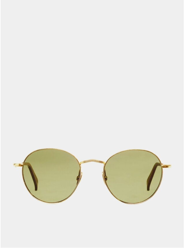 Gold / Bottle Green Vicuna Sunglasses