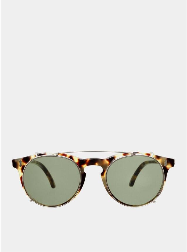 Light Tortoise Pleat Sunglasses