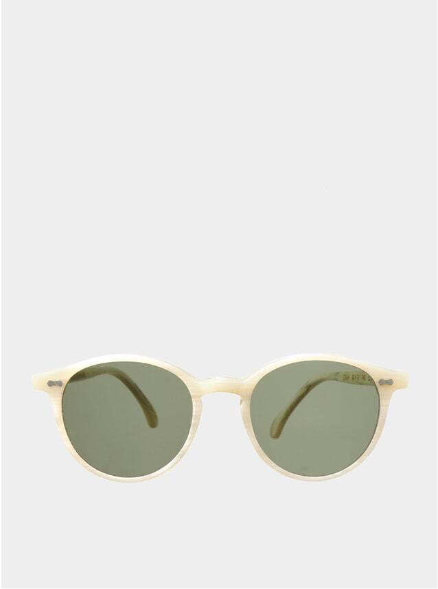 Ivory / Bottle Green Cran Sunglasses