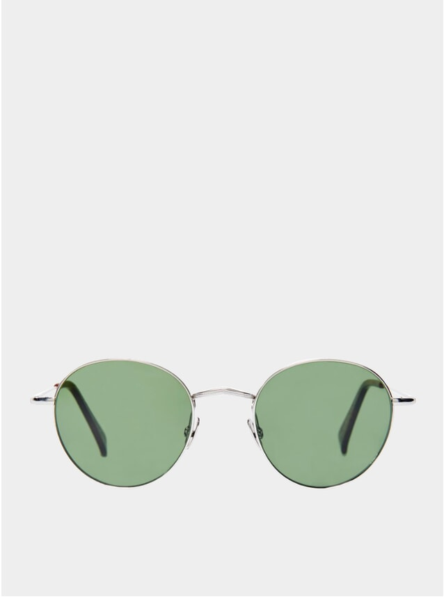Rhodium / Bottle Green Vicuńa Sunglasses